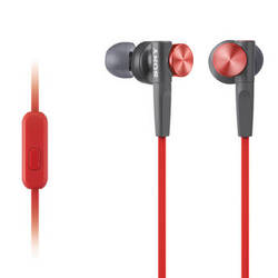 Sony MDR-XB50AP Extra Bass Earbud Headset (Red)