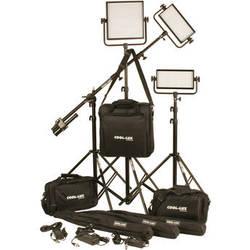 Cool-Lux CL3-2000DSG Daylight PRO Studio LED Spot 2-CL500DSG, 1-CL1000DSG Kit with Gold Mount Battery Plates