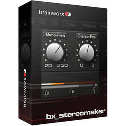 Brainworx bx_stereomaker - Mono to M/S Stereo Processing Plug-In (Download)