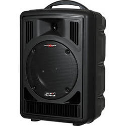 Galaxy Audio Traveler 8 AC/Battery Operated Portable PA System with CD & MP3 Player and 1 Mic Receiver