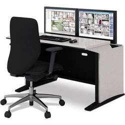 "Winsted E-SOC Control Station with Articulating Monitor Mounts (48"", Black)"
