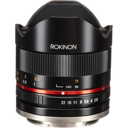 Rokinon 8mm f/2.8 UMC Fisheye II Lens for Sony E Mount (Black)