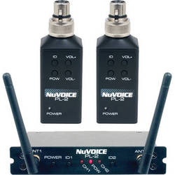 NuVoice PL-2 Dual-Channel Digital Wireless System with Plug-On Transmitters