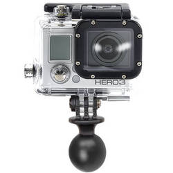 "RAM MOUNTS 1"" Diameter Ball with Custom GoPro Hero Adapter"
