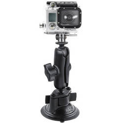 RAM MOUNTS Twist Lock Suction Cup Mount with Custom GoPro Hero Adapter