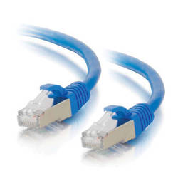 C2G 1' Cat6A Snagless Shielded (STP) Network Patch Cable (Blue)