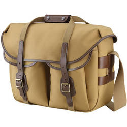 Billingham Hadley Large Pro Shoulder Bag (Khaki Fibrenyte & Chocolate Leather)