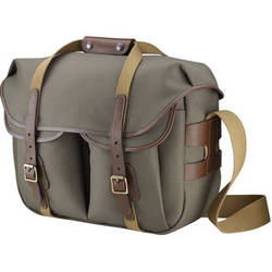 Billingham Hadley Large Pro Shoulder Bag (Sage Fibrenyte & Chocolate Leather)