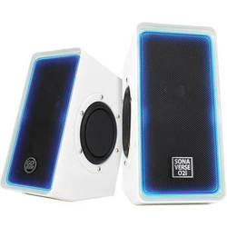 GOgroove SonaVERSE O2i Multimedia Gaming Computer Speaker System with Glowing LED Accents