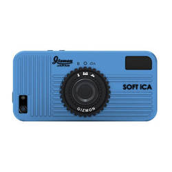Gizmon Soft iCA Camera Shape Silicone Case for iPhone 5/5s (Blue)