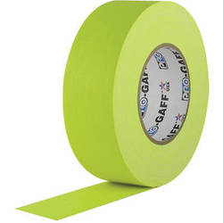 """Visual Departures Gaffer Tape (Fluorescent Yellow, 2"""" x 50 Yards)"""