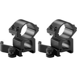 """Barska 1"""" High Weaver Style See-Through Quick Release Ring Pair"""