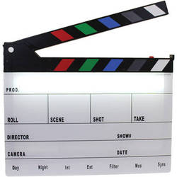 Cavision Next-Generation Slate with LED Light and Color Clap Sticks