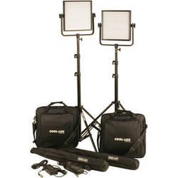 Cool-Lux CL2-2000DSG Daylight PRO Studio LED Spot 2-CL1000DSV Kit with V-Mount Battery Plates