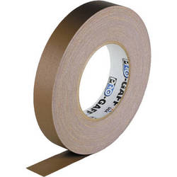 "Visual Departures Gaffer Tape - 1"" x 55 Yards (Brown)"