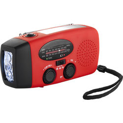 Barska Hand Crank Radio with Flashlight and Charger