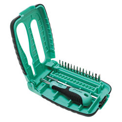 Eclipse Tools 15 in 1 Precision Electronic Screwdriver Set (Green/Black)