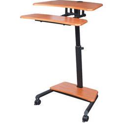 Balt Up-Rite Mobile Workstation with Adjustable Sit/Stand Desk