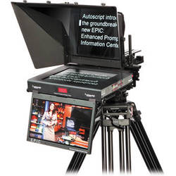 "Autoscript E.P.I.C 17"" Dual Monitor Teleprompter System"