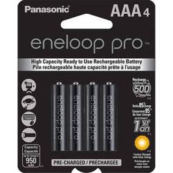 Panasonic Eneloop Pro AAA Rechargeable Ni-MH Batteries (950mAh, 4-Pack)
