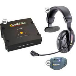Eartec ComStar XT Full Duplex Wireless System with ProLine Single Headsets (6 User)