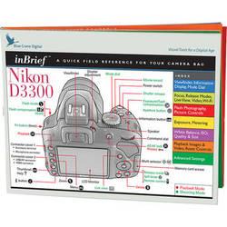 Blue Crane Digital Nikon D3300 inBrief Laminated Card: A Quick Field Reference for Your Camera Bag