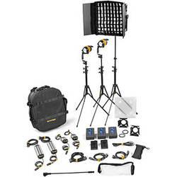 Dedolight DLED4.1/Felloni 2x1 Bi-Color 3-Light Master Kit (Mains & Battery Operation)