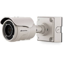 Arecont Vision MegaView 2 Series 5MP Indoor/Outdoor Vandal-Resistant IR Day/Night Bullet IP Camera with 2-Way Audio Support & 9 to 22mm P-Iris Lens