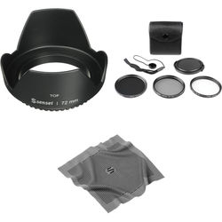 General Brand 72mm Filter Kit with Lens Hood