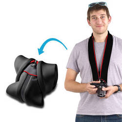 miggo Strap and Wrap for Mirrorless and Compact System Cameras (Black and Red)