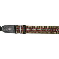 """XP PhotoGear Woven Gear Designer Strap with Leather Ends for DSLR Camera with Lens (Red and Yellow, 56"""" Long, 2"""" Wide)"""
