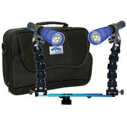 Fantasea Line Twin Radiant 1600 Mini Lighting Set for GoPro and Most Action Cameras