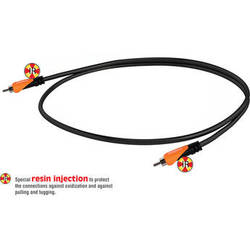 Bespeco RCA Male to RCA Male Audio Cable (Black/Orange, 6')