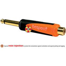 "Bespeco 1/4"" Mono Male to RCA Female Adapter (Black/Orange)"