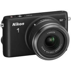 Nikon 1 S2 Mirrorless Digital Camera with 11-27.5mm Lens (Black)