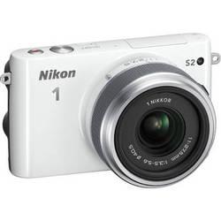 Nikon 1 S2 Mirrorless Digital Camera with 11-27.5mm Lens (White)