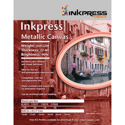 "Inkpress Media Metallic Canvas Inkjet Paper (17"" x 35', 1 Roll)"