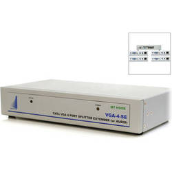 Apantac 4-Port VGA Splitter / Extender with Audio