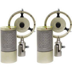 Coles Microphones 4050 Stereo Studio Ribbon Microphones Kit with Dual Mounts