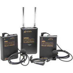 Azden Dual Wireless VHF Bodypack Kit (169.445 and 170.245 MHz)