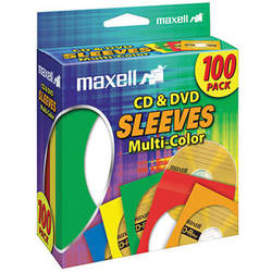Maxell Multi-Color CD & DVD Sleeves (100-Pack)