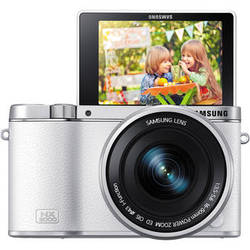 Samsung NX3000 Mirrorless Digital Camera with 16-50mm Lens (White)