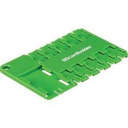 SD Card Holder microSD 10 Slot Cardholder (Green)