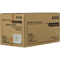 "HiTi 6x8"" Ribbon and Paper Case for P510 Series Dye-Sub Printers"