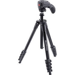Manfrotto Compact Action Aluminum Tripod (Black)