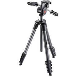 Manfrotto Compact Advanced Aluminum Tripod (Black)