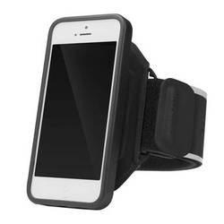 Incase Designs Corp Sports Armband Deluxe for iPhone 5/5s/SE (Black/Silver)