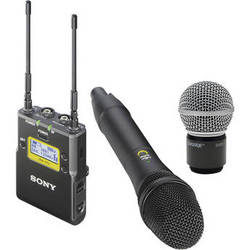 Sony UWP-D12 Integrated Digital Wireless Handheld Microphone ENG System with Shure SM58 Cartridge Kit (UHF Channels 30/36 and 38/41: 566 to 608 and 614 to 638 MHz)