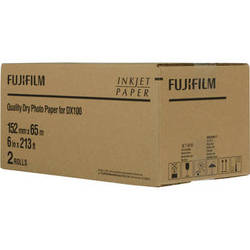 """Fujifilm Quality Dry Photo Paper for Frontier-S DX100 Printer (Glossy, 6"""" x 213' Roll, 2-Pack)"""