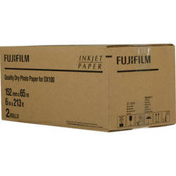 """Fujifilm Quality Dry Photo Paper for Frontier-S DX100 Printer (Lustre, 6"""" x 213' Roll, 2-Pack)"""